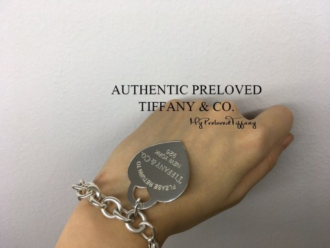 Pre-owned Tiffany & Co. Return To XL Heart Link Bracelet