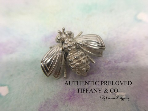 Pre-owned Tiffany & Co. Vintage Bumble Bee Silver Brooch