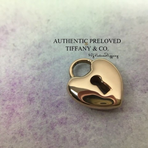Pre-owned Tiffany & Co. Mini Heart Lock Rose Gold Pendant