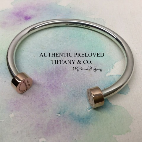Pre-owned Tiffany & Co. Return To Rubedo Metal Silver Cuff Small