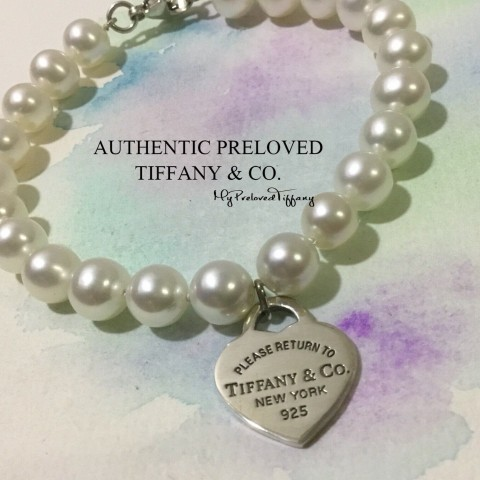 Pre-owned Tiffany & Co. Return To Tiffany Pearl Bracelet 7.5