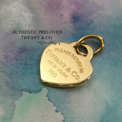 Pre-owned Tiffany & Co. Return To Tiffany Heart Yellow Gold Pendant Small