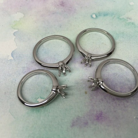 Pre-owned Tiffany & Co. Solitaire Platinum PT950 Ring Mounting 4pcs