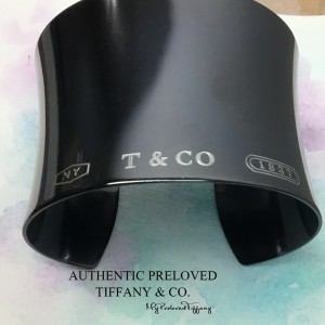 Pre-owned Tiffany & Co. 1837 Widest Titanium Cuff Bangle Large Wide