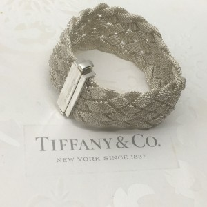 Pre-owned Tiffany & Co. Somerset Braided Mesh Bracelet Bangle