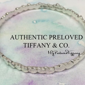 Pre-owned Tiffany & Co. Paloma Picasso Crown Modern Hearts Bangle