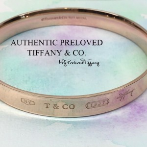 Pre-owned Tiffany & Co. 1837 Rubedo Metal Bangle