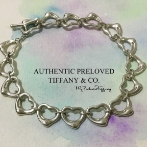 Pre-owned Tiffany & Co. Elsa Peretti 11mm Continuous Open Heart Toggle Bracelet