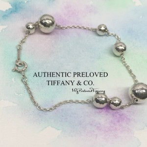 Pre-owned Tiffany & Co. Paloma Picasso Hammered Graduated Bead Ball Bracelet