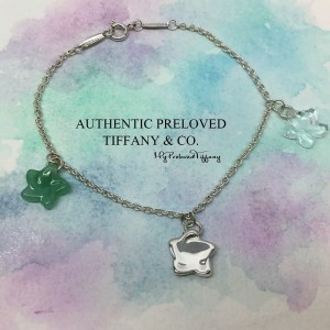 Pre-owned Tiffany & Co. Elsa Peretti Aven Crystal Star Bracelet