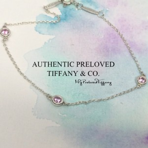 Pre-owned Tiffany & Co. Elsa Peretti By The Yard 3 Pink Sapphire Bracelet