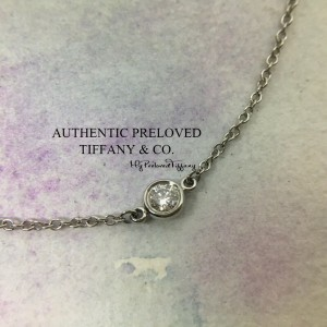 Pre-owned Tiffany & Co. Elsa Peretti By The Yard Diamond 0.08ct Platinum Bracelet 7