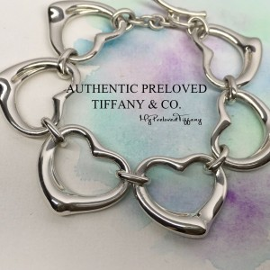 Tiffany & Co. Elsa Peretti 6 XL Continuous Open Heart Toggle Bracelet