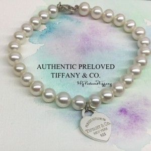 Pre-owned Tiffany & Co. Return To Tiffany Pearl Bracelet 8.25