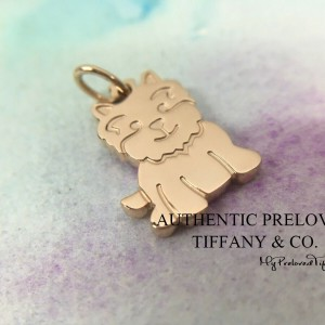 Pre-owned Tiffany & Co. Rose Gold Yorkie Dog Charm