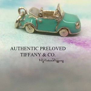 Pre-owned Tiffany & Co. Blue Enamel Convertible Car Silver Charm