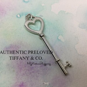 Pre-owned Tiffany & Co. Large Heart Key Charm Pendant Silver