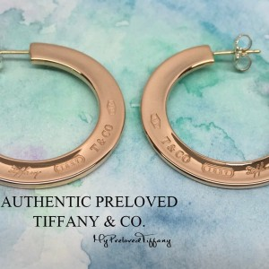 Pre-owned Tiffany & Co. 1837 Rubedo Metal Hoop Earrings