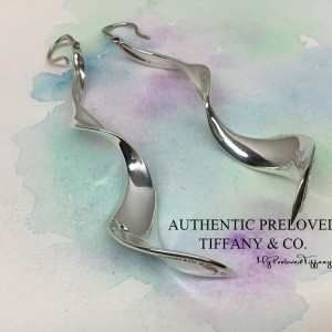 Pre-owned Tiffany & Co. Gehry Large Orchid Earrings 2.75