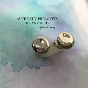 Pre-owned Tiffany & Co. Elsa Peretti Round Disc Diamond Stud Earrings