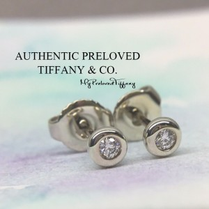 Pre-owned Tiffany & Co. Elsa Peretti By The Yard 0.06 Diamond Earrings