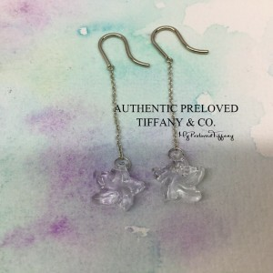 Pre-owned Tiffany & Co. Elsa Peretti Crystal Star Dangling Earrings Silver