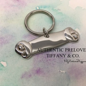 Pre-owned Tiffany & Co. Large Dog Bone Collar Charm Keyring