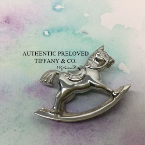 Tiffany & Co. Rocking Carousel Horse Brooch Silver