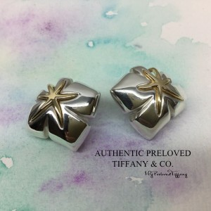 Tiffany & Co. Ivy Maple Leaf Starfish Gold Silver Earclips