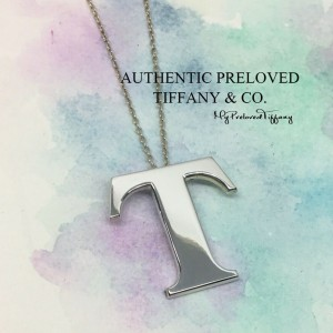 Pre-owned Tiffany & Co. Alphabet Letter T Necklace Silver
