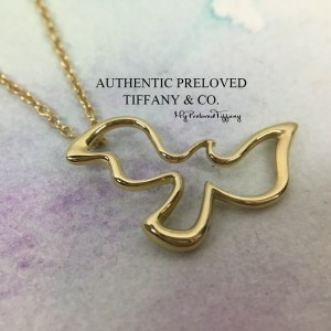 Tiffany & Co. Paloma Picasso Dove Bird Gold Necklace