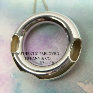Pre-owned Tiffany & Co. Gehry Ebony Necklace Silver