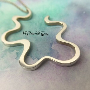 Tiffany & Co. Gehry Large Equus Squiggle Wave Necklace