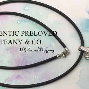 Pre-owned Tiffany & Co. 1837 Galaxy Titanium Silver Cord Necklace 20