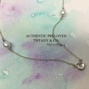 Pre-owned Tiffany & Co. Elsa Peretti By The Yard Moonstone Pearl Necklace