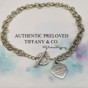 Pre-owned Tiffany & Co. Return To Medium Heart Toggle Choker Necklace