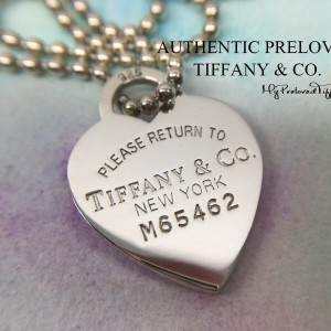 Pre-owned Tiffany & Co. Return To Large Heart Long Beaded Necklace