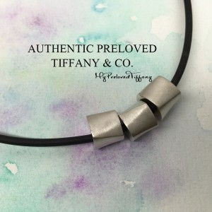 Pre-owned Tiffany & Co. Gehry Satin Triple Solid Torque Cord Choker Necklace