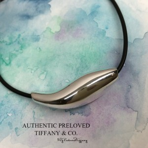 Tiffany & Co. Gehry Fish Choker Necklace Silver Toggle