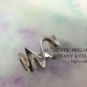Pre-owned Tiffany & Co. Frank Gehry Equus Wave Ring Silver #6.5