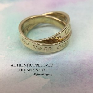 Pre-owned Tiffany & Co. YG 1837 Interlocking Yellow Gold Ring 18k