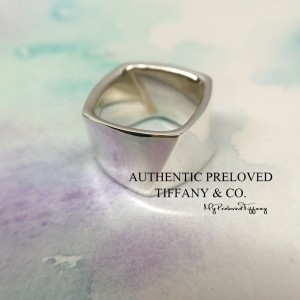 Pre-owned Tiffany & Co. Gehry Torque Wide Silver Ring #4.5