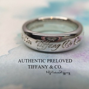 Pre-owned Tiffany & Co. Notes Wide Ring Silver #6.5