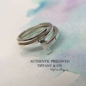 Pre-owned Tiffany & Co. T Wrap Ring Silver #5.75