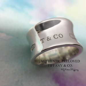 Pre-owned Tiffany & Co. 1837 Widest Wide Silver Ring #6.5