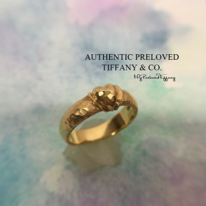 Tiffany & Co. Paloma Picasso Heart Hammered Yellow Gold Band Ring 18k #5.25