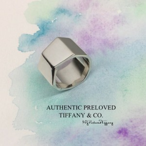 Pre-owned Tiffany & Co. Gehry Torque Wide Fold Irregular Ring 5.5