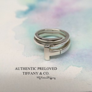 Pre-owned Tiffany & Co. T Wrap Ring Silver #4.75