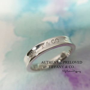 Pre-owned Tiffany & Co. 1837 Narrow Silver Ring #7.25