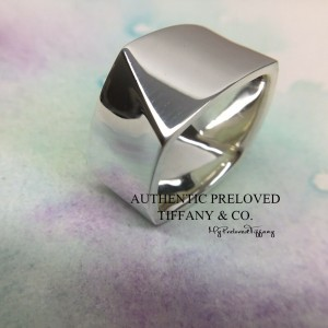 Pre-owned Tiffany & Co. Gehry Torque Wide Silver Ring #8